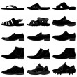 Man Male Men Shoes Footwear — Imagen vectorial