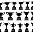 Trophy Cup Silhouette Black Set — Stock Vector #6184299