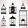 Bird Cage birdcage vintage retro silhouette — Cтоковый вектор