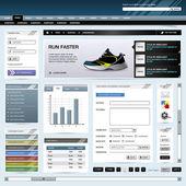 Web Design Website Element Template Button — Stock Vector