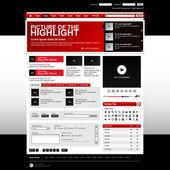 кнопку шаблона элемента веб-дизайн сайта — Cтоковый вектор