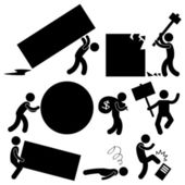 Iş yükünü engel işyerinde — Stok Vektör