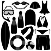 Swimming Diving Snorkeling Aquatic Equipment Tool — Vector de stock