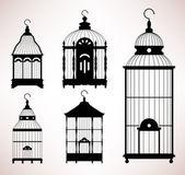 Bird Cage birdcage vintage retro silhouette — Stock Vector