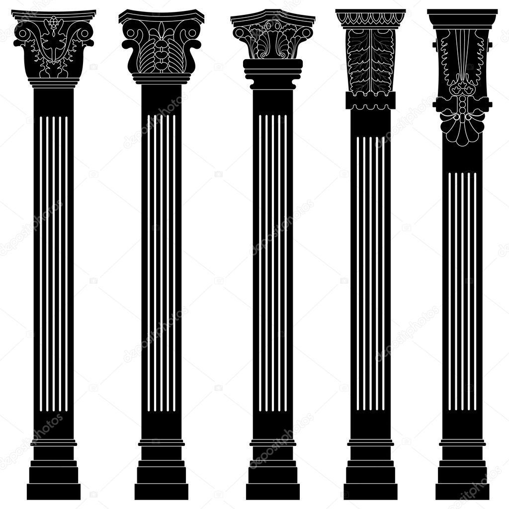 A set of ancient pillar and column. — Stock Vector #6184292