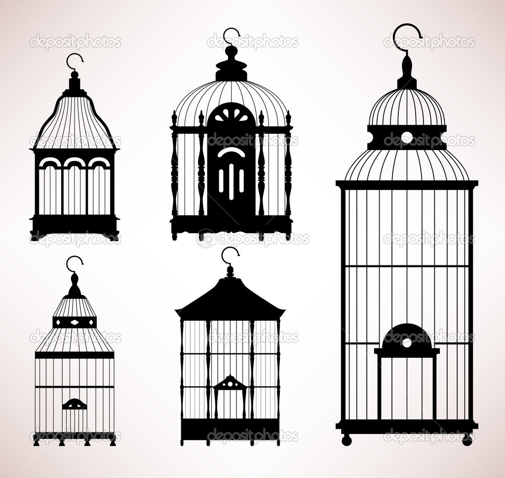 A set of antique bird cages design.  Stock Vector #6184305