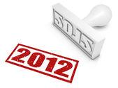 2012 rubberstempel — Stockfoto