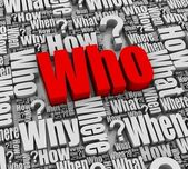 Who? — Stock Photo