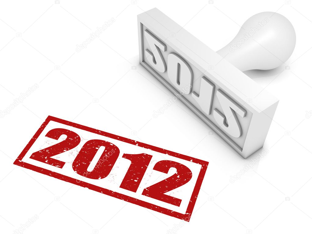 2012 rubber stamp. Part of a series of stamp concepts.  Stock Photo #5633860
