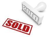 Sold — Stock Photo