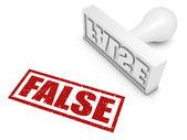False — Foto Stock