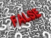 False — Stock Photo