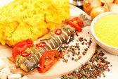 Traditional romanian meal — Stock Photo
