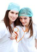 Medici con stetoscopio — Foto Stock