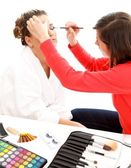 Beautician at work — Stock Photo