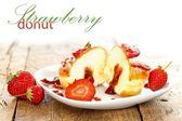Strawberry donut — Stock Photo