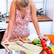 Womwith recipe book — Stock Photo #6457439