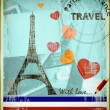 Parisian postcard - Stock Photo
