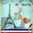 Stock Photo: Parisipostcard