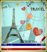 Parisian postcard — Stock Photo