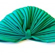 Green turban isolated — Stock Photo