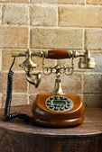 Vintage luxurious telephone old fashion — Stock Photo