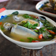 Spicy mackerel fish soup — Stok fotoğraf