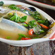 Spicy mackerel fish soup — Stock Photo