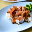 Teriyaki pork rice — Stock Photo