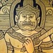 Ancient Thai style art painting on wall in Buddha Temple — Stock Photo