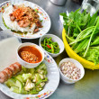 Fresh Vietnamese style food set — Stock Photo