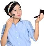 Portrait of asian woman applying make up — Stock Photo #6360599