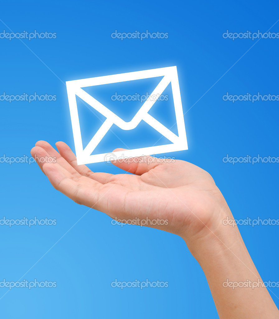 Hand Receive E Mail Letter Icon Stock Photo 169 Zmkstudio