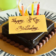 Stock Photo: Chocolate birthday cake