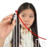 obchodní žena kreslení grafu — Stock fotografie