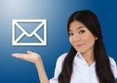 Business woman and e-mail — Stock Photo