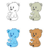 Cute Bears — Stock Photo