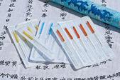 Acupuncture needles — Stock Photo