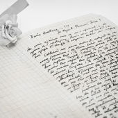 Very old handwritten letter. — Stock Photo