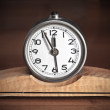 Royalty-Free Stock Photo: Dirty old table clock