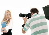 Scattare foto di fotografo — Foto Stock