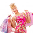 Royalty-Free Stock Photo: Attractive Young Woman with Shopping Bags