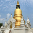 Golden chedi in Thailand — Stock Photo