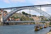 Widok na rzekę z porto — Zdjęcie stockowe