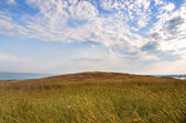 Field landscape sky hill — Stock Photo