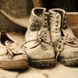 Dusty old shoes — Stock Photo