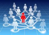 členové sociální sítě — Stock vektor