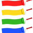 Stock Photo: Colorful paint rolls painting stripes