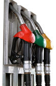 Gas pumps isolated — Stock Photo