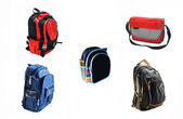 School backpacks — Stock Photo